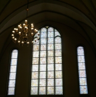Lielās zāles vitrāžas